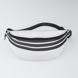 Classic Black Stripes Fanny Pack