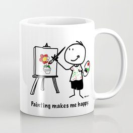 Painting makes me happy. Coffee Mug