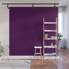 Large Zombie Purple and Black Hell Hounds Tooth Check Wall Mural