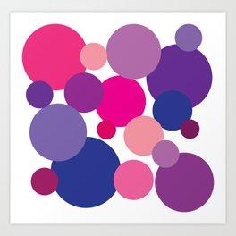 Cool Colors Bubble Circles Art Print