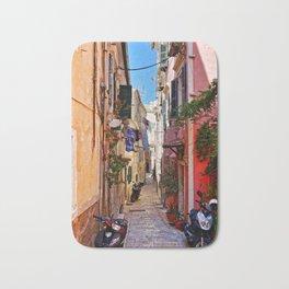 Alley in Corfu Town, Greece Bath Mat