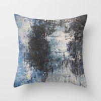 the strokes Throw Pillows featuring Strokes by Hasan Nisar Basra