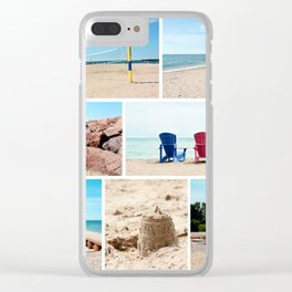 AFE Summer Vibes Clear iPhone Case