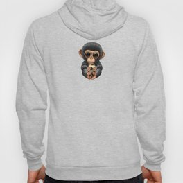 Cute Baby Chimp With Football Soccer Ball Hoody