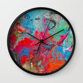 Heaven Rejoices Multi Colored Abstract Luke 15:7 Wall Clock