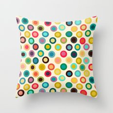 ivory pop spot Throw Pillow