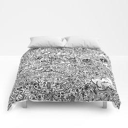 Crazy doodles Comforters