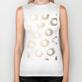 Luxe Gold City Dot Circles Biker Tank