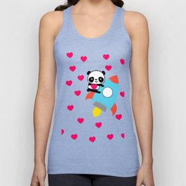 Rocketpanda in Love Unisex Tank Top