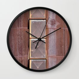 Silo used at blast furnaces Wall Clock