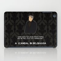 scandal iPad Cases featuring A Scandal in Belgravia - Greg Lestrade by MacGuffin Designs