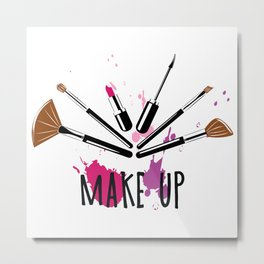 Makeup colorful illustration Metal Print