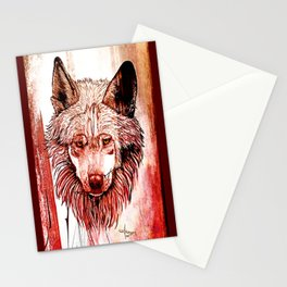 Alpha: Red Stationery Cards