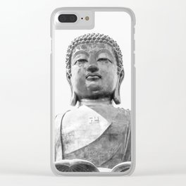 The Big Buddha in Black and White #decor #society6 #buyart Clear iPhone Case