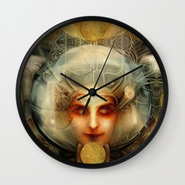 """Art Deco Retro The Chimera"" Wall Clock"