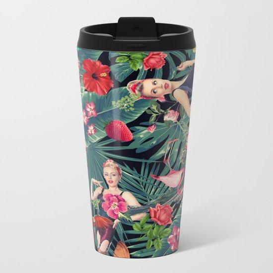 tropical fun sexy  Metal Travel Mug