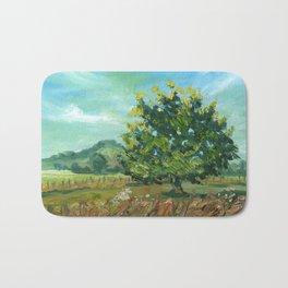 Sunny Cambridge, New Zealand - landscape oil painting Bath Mat