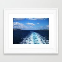 voyage Framed Art Prints featuring Voyage by aeolia