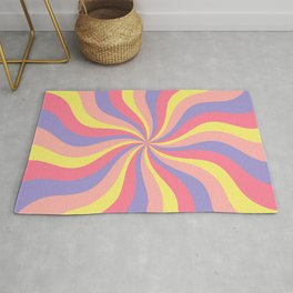 Wavy Retro 70s Pastel abstract Rug