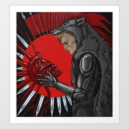 legacy (red) Art Print