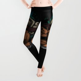 Mayan God Leggings