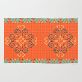 Christmas knitted pattern Rug