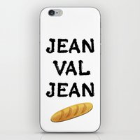 cassandra jean iPhone & iPod Skins featuring jean val jean by Bread Sports