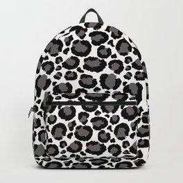 Gray Black White Cheetah Pattern Backpack