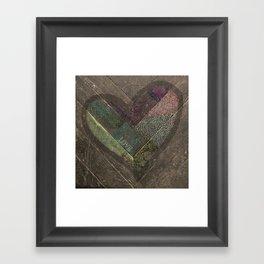Weathered Love Framed Art Print