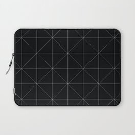 Geometric black and white Laptop Sleeve