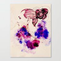 fashion illustration Canvas Prints featuring Fashion Illustration by Octopus Soup