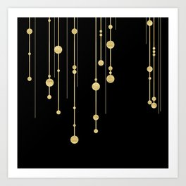Black and Gold Art Print