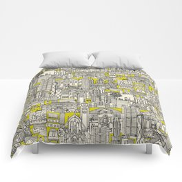 Hong Kong toile de jouy chartreuse Comforters
