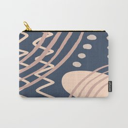 Abstract Neutrals Pallet Carry-All Pouch