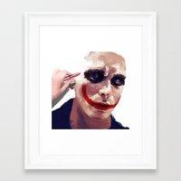 christian schloe Framed Art Prints featuring Christian Bale by Pazu Cheng