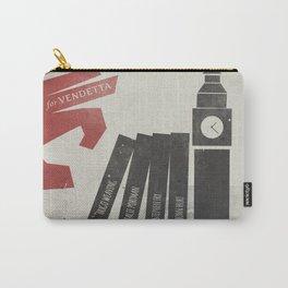 V Vendetta, alternative movie poster, graphic novel, Alan Moore, Natalie Portman, Guy Fawkes, S. Fry Carry-All Pouch