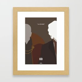 """Doctor Who 50th Anniversary Posters - """"The 8th Doctor"""" Framed Art Print"""
