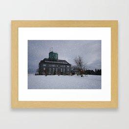 Snowy Kahler Asten Tower Framed Art Print
