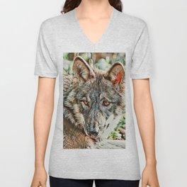 Toony Wolf Unisex V-Neck