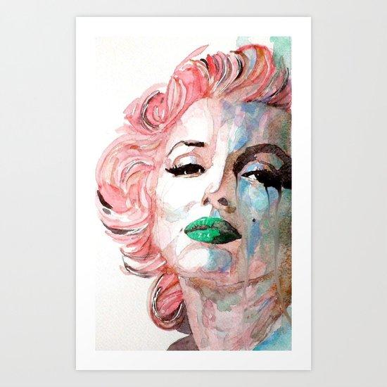 Insecure, Flawed But Beautiful  Marilyn Monroe Art Print