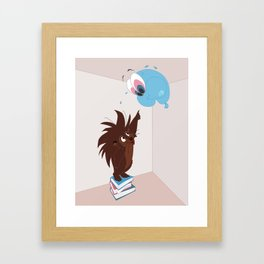 Porcupine and Balloon Framed Art Print