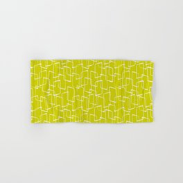 Lime Green Retro Geometric Pattern Hand & Bath Towel
