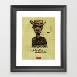 "The ""D"" is Silent Framed Art Print"