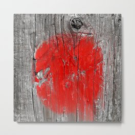 Red Marks the Spot Metal Print