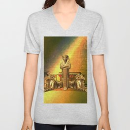 Anubis, the egyptian god Unisex V-Neck