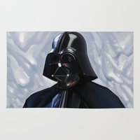 darth vader Area & Throw Rugs featuring Darth Vader by Brad Collins Art & Illustration