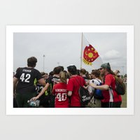 quidditch Art Prints featuring Southern Quidditch by Mollie Evans