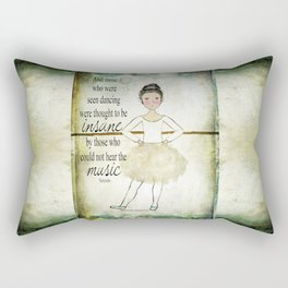 Insane Music Lady Dancing Rectangular Pillow