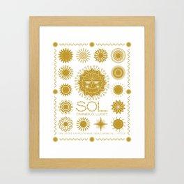 Sol Omnibus Lucet Framed Art Print