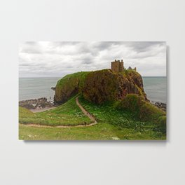Dunnottar Castle, a medieval fortress in Stoneheaven - Fine Arts Travel Photography Metal Print